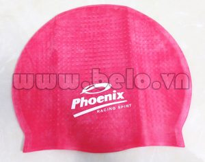 Mũ bơi chính hãng phoenix màu hồng MB09