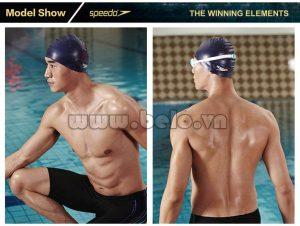 Mũ bơi chính hãng speedo màu xanh  dương  MB18