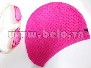 Mũ bơi chính hãng speedo màu hồng gân  MB22