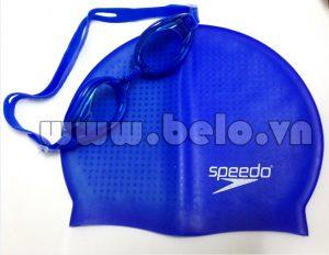 Mũ bơi chính hãng speedo màu xanh MB10