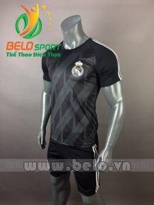 Áo bóng đá CLB Real 2017-2018  đen
