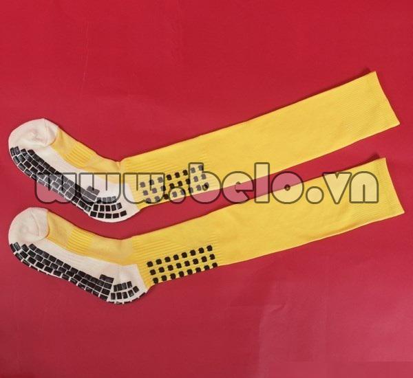 Tất dài đá bóng chống trơn màu vàng