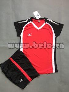 Áo bóng chuyền nữ 2017-BC-05 màu đỏ đen