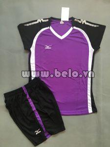 Áo bóng chuyền nữ 2017-BC-09 màu tím đen