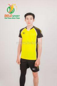 Quần áo bóng chuyền nam mizuno 1618 vàng
