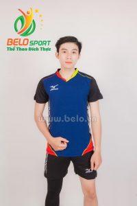 Quần áo bóng chuyền nam mizuno 1616 xanh pha đen