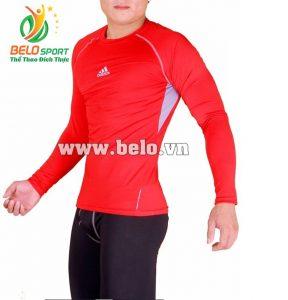 Áo lót body bóng đá, áo tập gym màu đỏ cao cấp ABD669