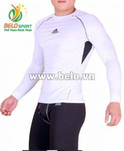 Áo lót body bóng đá, áo tập gym màu trắng cao cấp ABD668