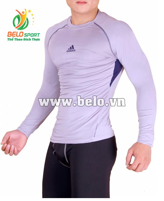 Áo lót body bóng đá, áo tập gym màu xám cao cấp ABD688