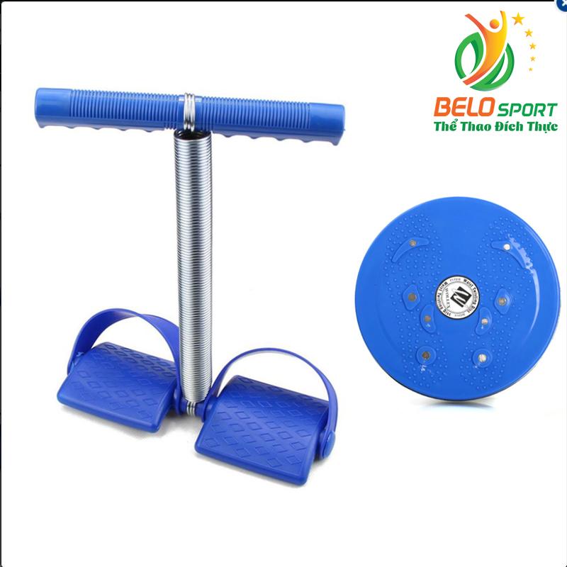 Combo dụng cụ tập cơ bụng tummy trimmer và bàn xoay eo