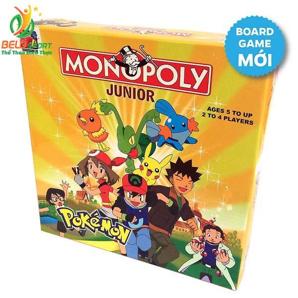Đồ chơi Board game BG1026 Monopoly Junior Pokemon – Cờ Tỷ Phú Pokemon