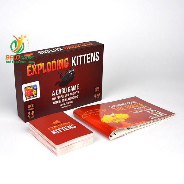 Trò chơi chơi Board Game BG05 Mèo Nổ – Exploding Kittens tại Belo Sport
