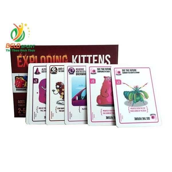 Trò chơi Board Game BG1012 – Mèo Nổ Bản Mở Rộng #1 Defending Kittenstại Belo Sport