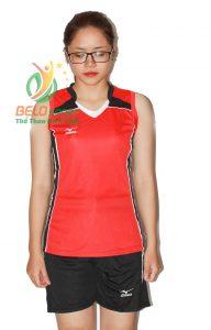 Áo bóng chuyền nữ mizuno đỏ sát nách 2018-G2