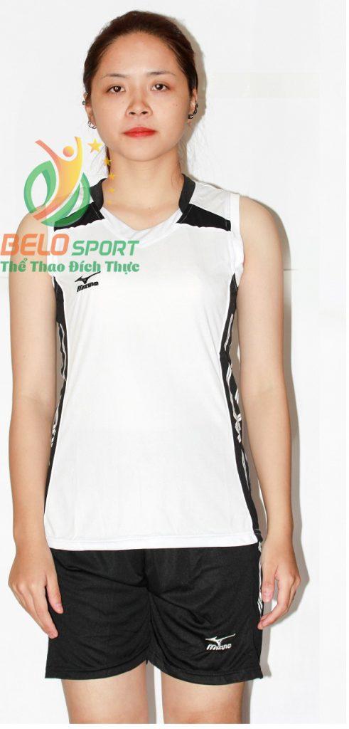 Áo bóng chuyền nữ mizuno trắng sát nách 2018-G3