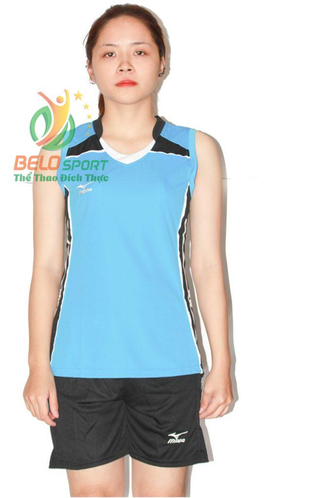 Áo bóng chuyền nữ mizuno xanh ngọc sát nách 2018-G5