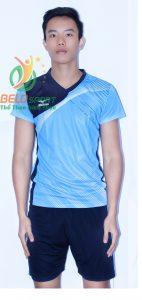 Áo bóng chuyền nam Grand Sport xanh 2018-B6