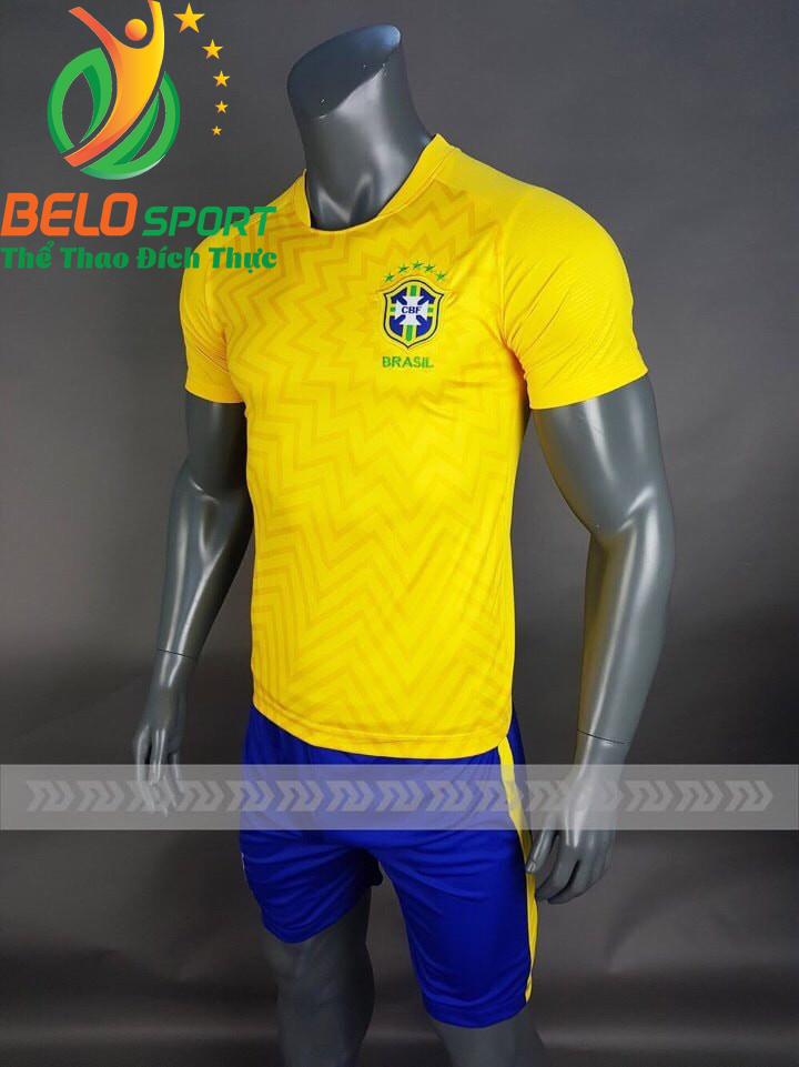 Áo bóng đá đội tuyển BBRASIL world cup 2018  màu vàng
