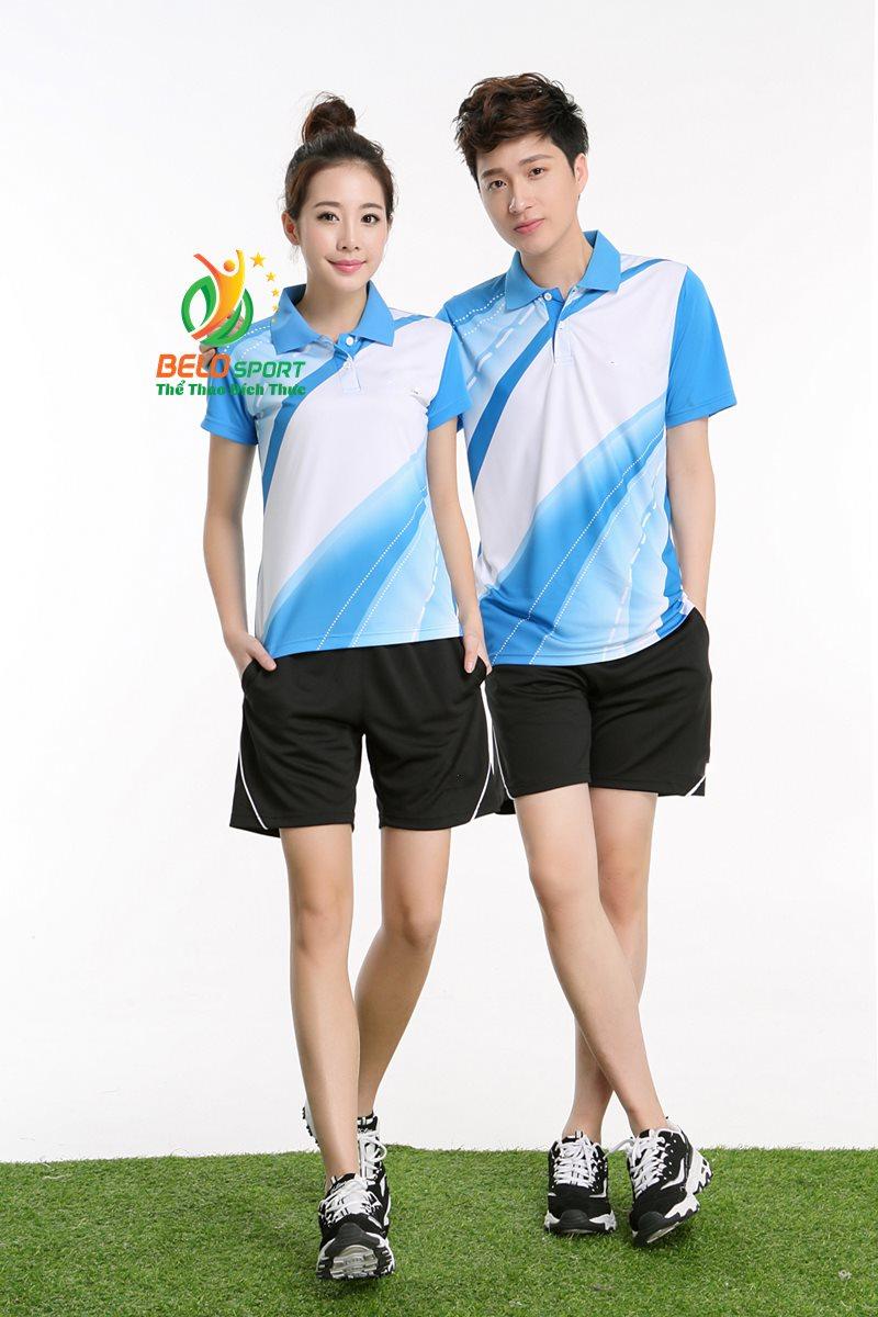 áo cầu lông lining 2018 xanh biển