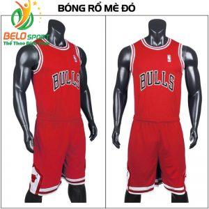 Quần áo bóng rổ người lớn BRS-01 vải mè màu đỏ giá rẻ