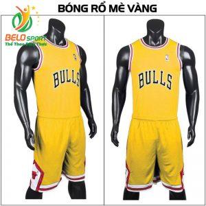 Quần áo bóng rổ người lớn BRS-02 vải mè màu vàng giá rẻ