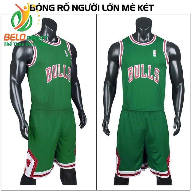 Quần áo bóng rổ người lớn BRS-03 vải mè màu xanh lá giá rẻ