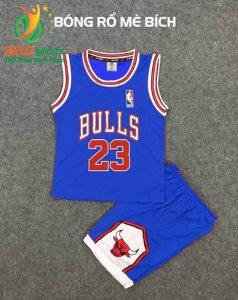 Quần áo bóng rổ trẻ em BRTE-06 vải mè màu xanh bích giá rẻ