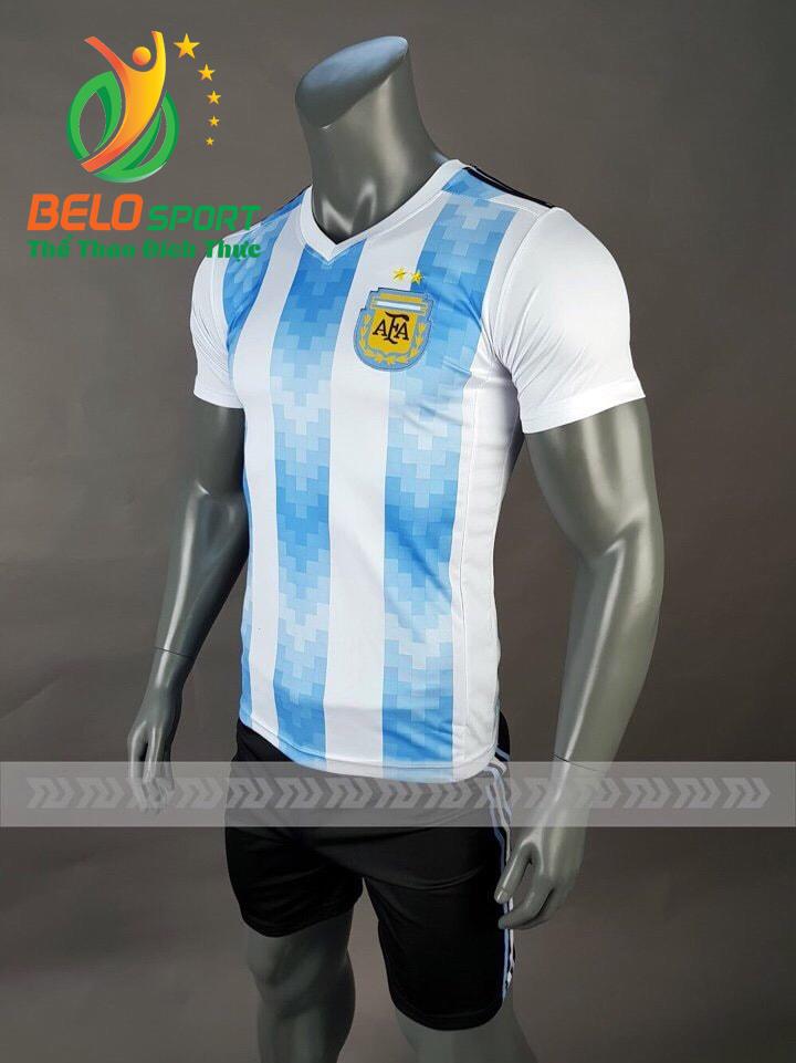 Áo bóng đá đội tuyển Argentina world cup 2018 màu xanh sọc trắng