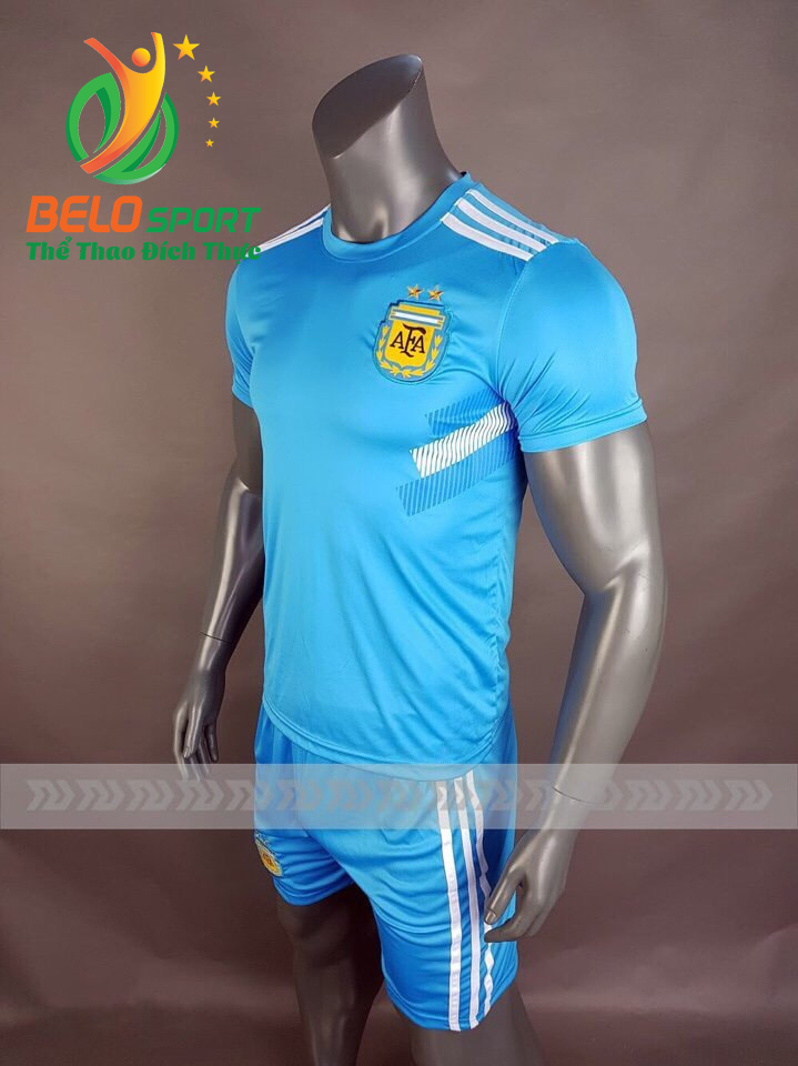Áo bóng đá đội tuyển Argentina world cup 2018 màu xanh ngọc