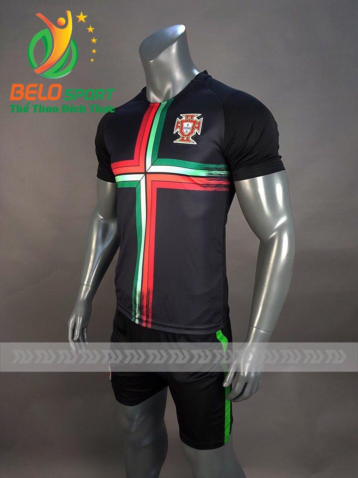 Áo bóng đá đội tuyển Bồ Đào Nha world cup 2018 màu đen
