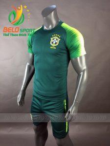 Áo bóng đá đội tuyển Brazil world cup 2018 màu xanh rêu
