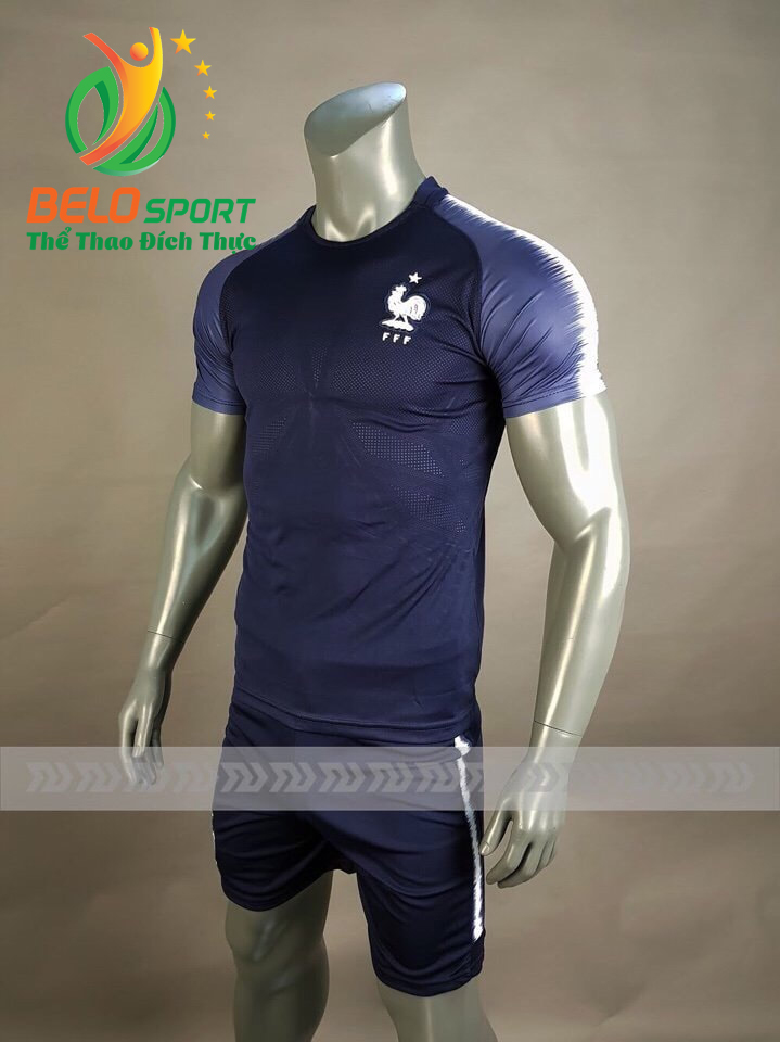 Áo bóng đá đội tuyển Pháp world cup 2018 màu xanh