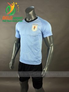 Áo bóng đá đội tuyển Uruguay world cup 2018 màu xanh