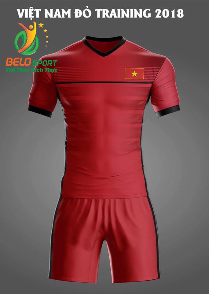 Áo bóng đá Việt Nam Traning 2018 màu đỏ