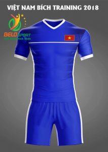Áo bóng đá Việt Nam Traning 2018 màu xanh