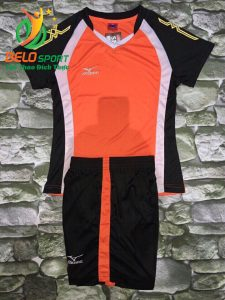 Áo bóng chuyền nữ màu cam pha đen  2018-G10