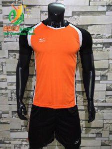 Áo bóng chuyền nam màu cam pha đen  2018-B13