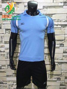 Áo bóng chuyền nam màu xanh dương nhạt  2018-B10