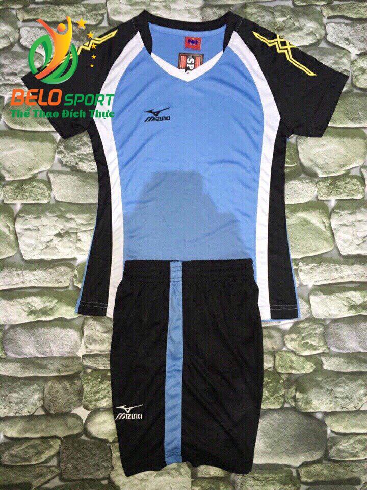 Áo bóng chuyền nữ màu xanh ngọc pha đen 2018-G8