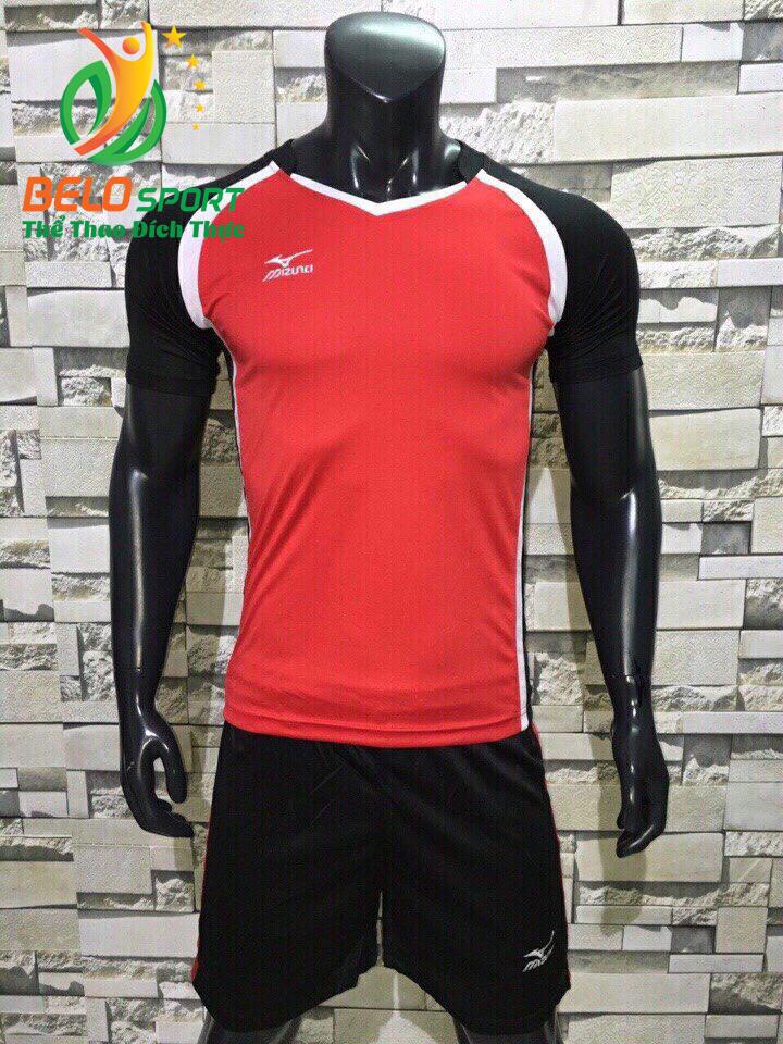 Áo bóng chuyền nam màu đỏ pha đen  2018-B15