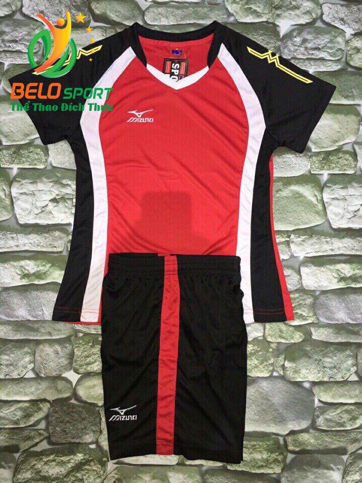 Áo bóng chuyền nữ màu đỏ pha đen  2018-G11