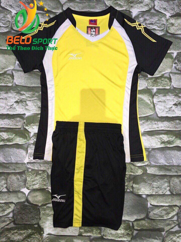 Áo bóng chuyền nữ màu vàng pha đen  2018-G12
