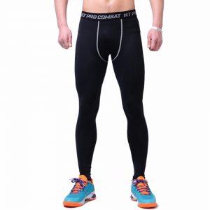 Quần tập GYM PRO COMBAT, quần body giữ nhiệt dài màu đen