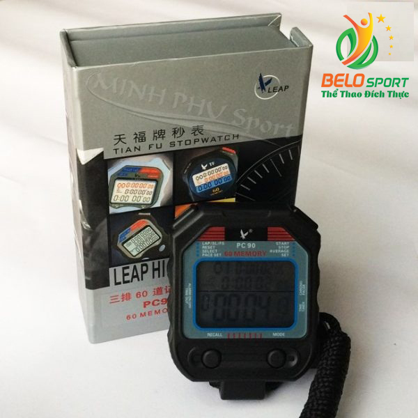 Đồng hồ bấm giây, bấm giờ thể thao 60 láp PC90 chính hãng giá rẻ nhất
