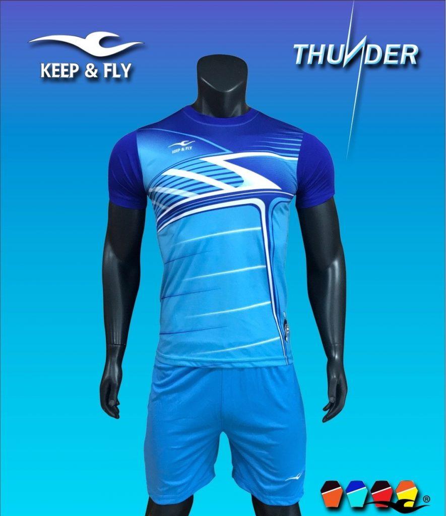 Áo bóng đá không logo 2018-02 màu xanh ngọc