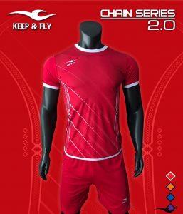 Áo bóng đá không logo 2018-05 màu đỏ