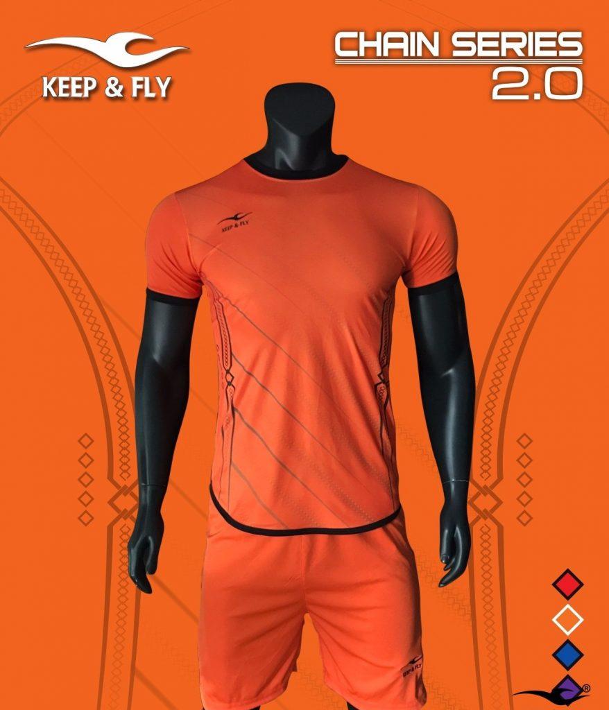 Áo bóng đá không logo 2018-06 màu cam