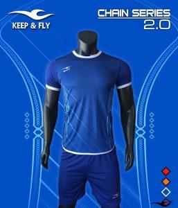 Áo bóng đá không logo 2018-14 màu xanh đậm