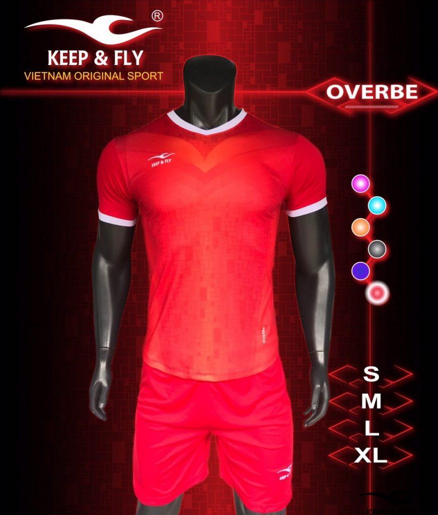 Áo bóng đá không logo 2018-15 màu đỏ