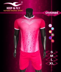 Áo bóng đá không logo 2018-16 màu hồng